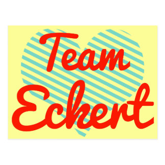 Equipo Eckert Tarjeta Postal