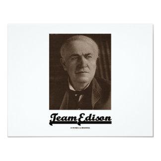 Equipo Edison (Thomas Alva Edison) Invitacion Personal