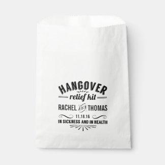 Equipo el | del alivio de la resaca que se casa bolsa de papel