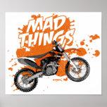 Equipo enojado del moto posters