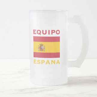 EQUIPO ESPANA FROSTED GLASS BEER MUG