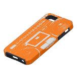 Equipo estéreo portátil anaranjado iPhone 5 Case-Mate protectores