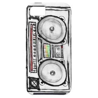 Equipo estéreo portátil del vintage funda para iPhone 5 tough