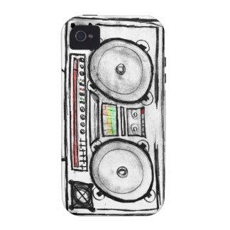 Equipo estéreo portátil del vintage iPhone 4 carcasa