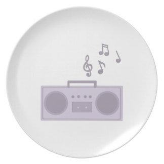 Equipo estéreo portátil platos para fiestas