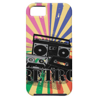 Equipo estéreo portátil y casetes retros del iPhone 5 Case-Mate carcasa