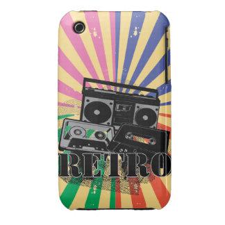 Equipo estéreo portátil y casetes retros del Case-Mate iPhone 3 cárcasas