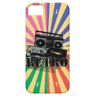 Equipo estéreo portátil y casetes retros del iPhone 5 Case-Mate protectores