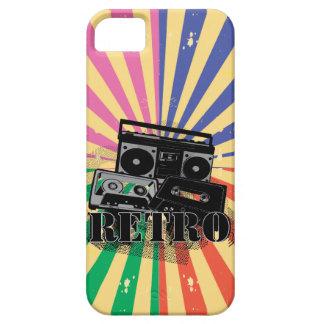 Equipo estéreo portátil y casetes retros del iPhone 5 Case-Mate cárcasas