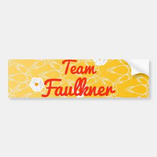Equipo Faulkner Pegatina De Parachoque