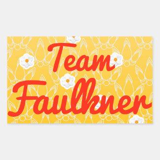 Equipo Faulkner Pegatina Rectangular