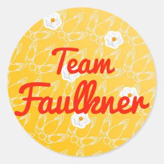 Equipo Faulkner Pegatina Redonda
