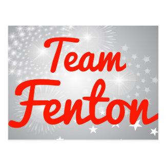 Equipo Fenton Tarjeta Postal