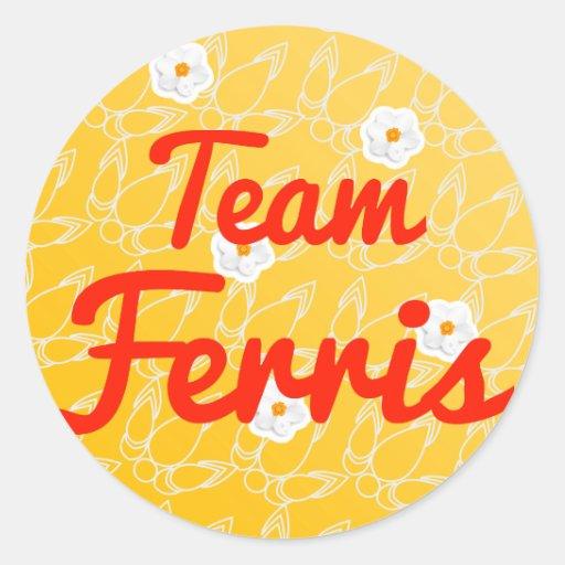 Equipo Ferris Etiqueta Redonda