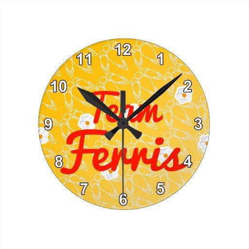Equipo Ferris Relojes De Pared