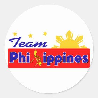 Equipo Filipinas Pegatina Redonda
