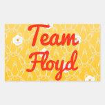 Equipo Floyd Rectangular Pegatinas