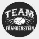 Equipo Frankenstein Pegatina Redonda