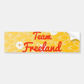 Equipo Freeland Pegatina De Parachoque