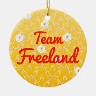 Equipo Freeland Adorno Redondo De Cerámica