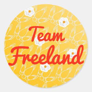 Equipo Freeland Pegatina Redonda