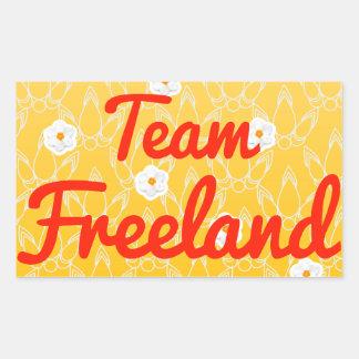 Equipo Freeland Pegatina Rectangular