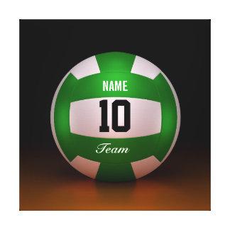 Equipo fresco del voleibol de Forest Green del Impresión En Tela