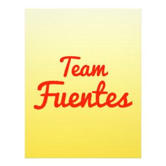 Equipo Fuentes Tarjeta Publicitaria