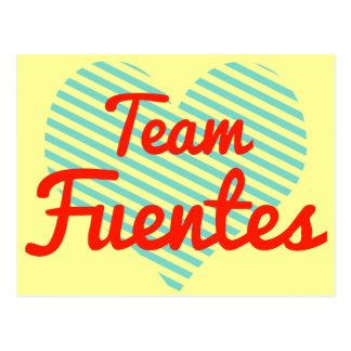 Equipo Fuentes Tarjetas Postales