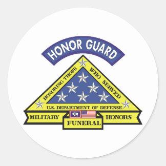 Equipo fúnebre de los honores de Wyoming Pegatina Redonda