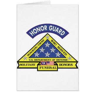 Equipo fúnebre de los honores de Wyoming Tarjeta De Felicitación