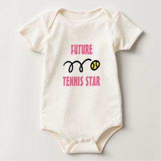 Equipo futuro del bebé de la estrella de tenis mamelucos