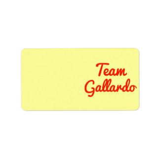 Equipo Gallardo Etiqueta De Dirección