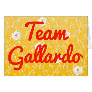 Equipo Gallardo Tarjetón