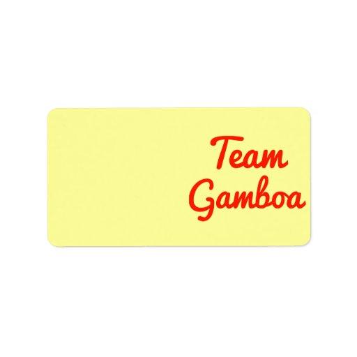 Equipo Gamboa Etiquetas De Dirección
