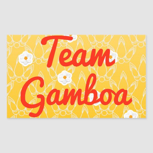 Equipo Gamboa Pegatina