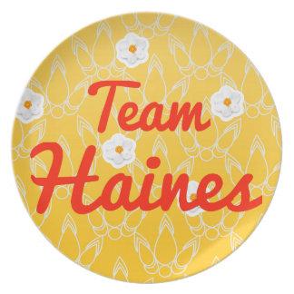 Equipo Haines Platos