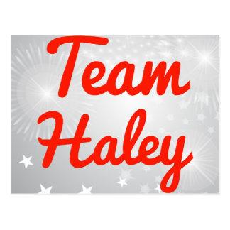 Equipo Haley Tarjeta Postal