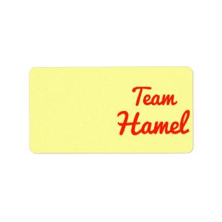 Equipo Hamel Etiquetas De Dirección