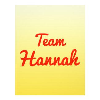 Equipo Hannah Flyer Personalizado