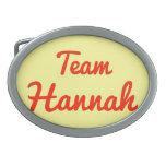 Equipo Hannah Hebilla Cinturón Oval