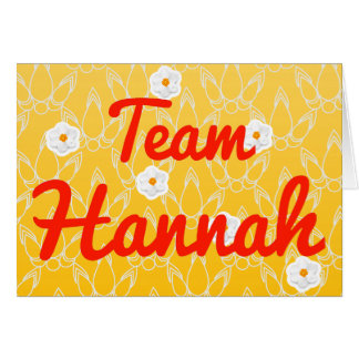Equipo Hannah Tarjeta De Felicitación