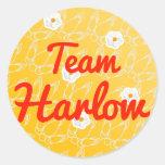 Equipo Harlow Pegatina Redonda