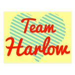 Equipo Harlow Tarjetas Postales