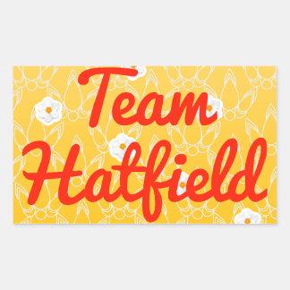 Equipo Hatfield Rectangular Pegatina
