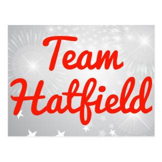 Equipo Hatfield Tarjeta Postal