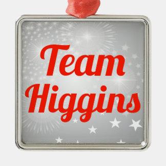 Equipo Higgins Adorno Cuadrado Plateado