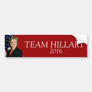 Equipo Hillary Etiqueta De Parachoque
