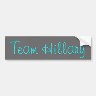 Equipo Hillary Pegatina De Parachoque