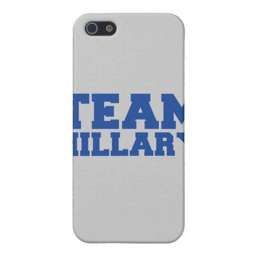 EQUIPO HILLARY CLINTON BLUE.png iPhone 5 Funda